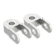 2 Réhausseurs amortisseur arrière de garde au sol de dirt 6cm (Alu)
