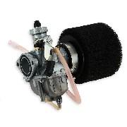 * Carburateur dirt bike Mikuni de 26mm + filtre Noir