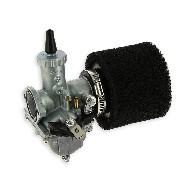 * Carburateur dirt bike Mikuni de 30mm + filtre Noir