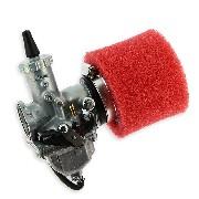 * Carburateur dirt bike Mikuni de 30mm + filtre Rouge
