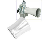 Air funnel en aluminium pour Dirt Bike ( L: 57mm )