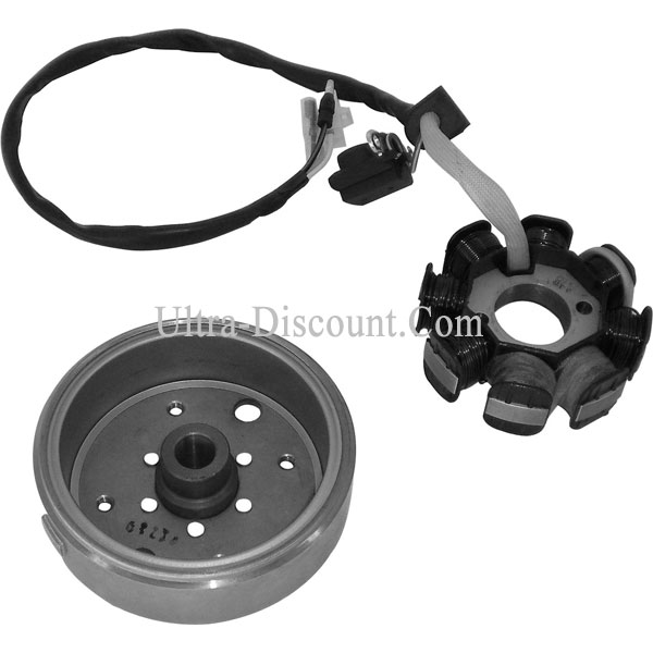 Stator + volant magnetique scooter Baotian BT49QT-12