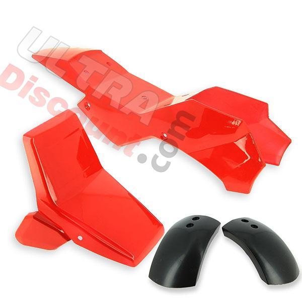 car nage rouge pour pocket quad type 1 pieces pocket quad carenage ultra. Black Bedroom Furniture Sets. Home Design Ideas