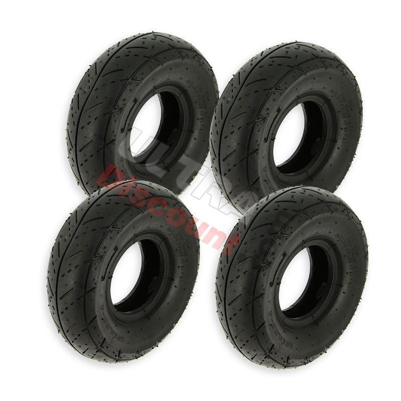 jeu de 4 pneus route pour pocket quad pieces pocket quad pneumatique ultra. Black Bedroom Furniture Sets. Home Design Ideas