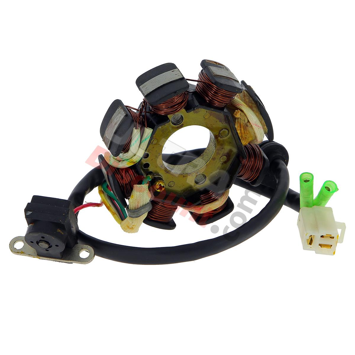 stator pour scooter chinois 50cc 4temps 5 fils pi ces scooter allumage ultra. Black Bedroom Furniture Sets. Home Design Ideas