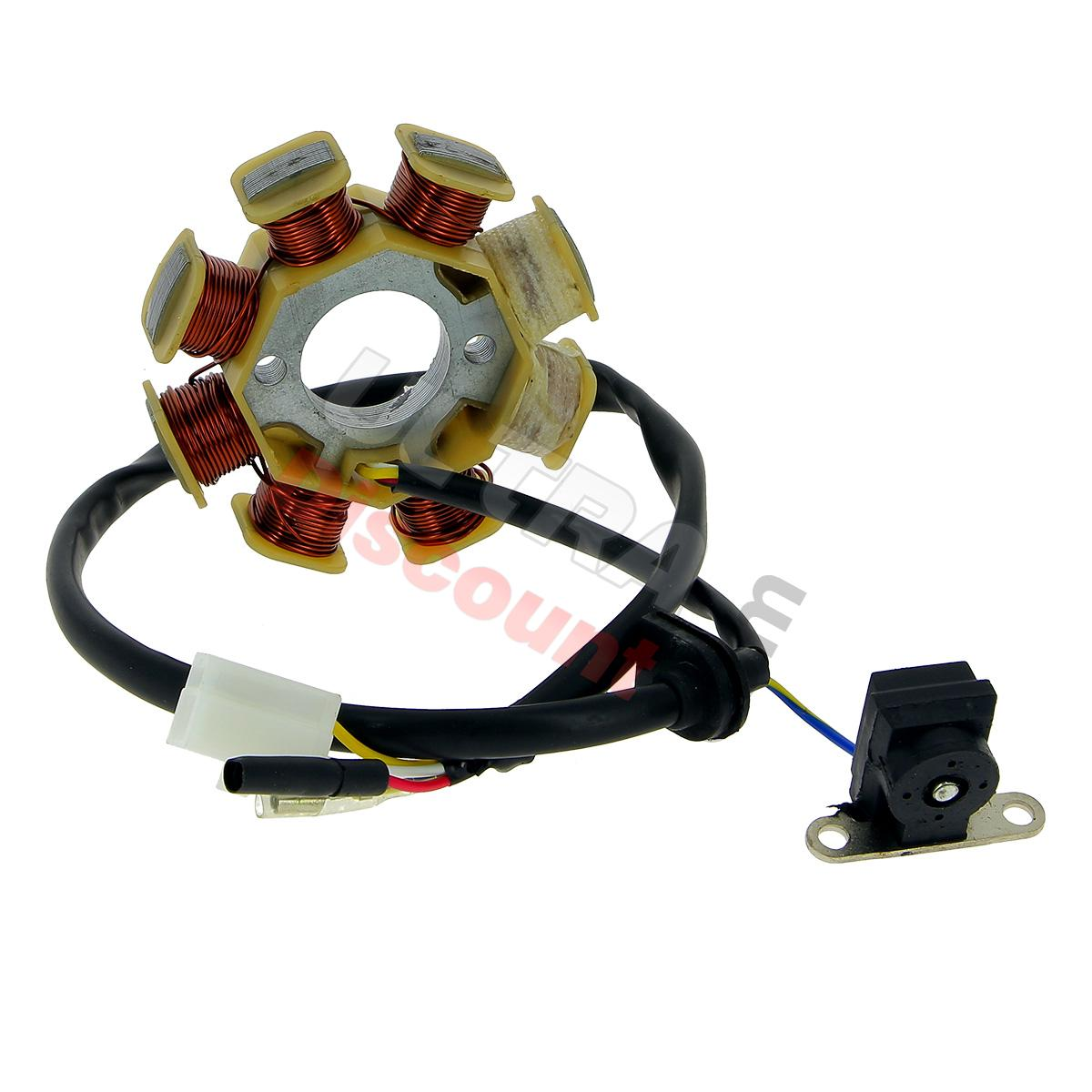 stator pour scooter chinois 50cc 4temps 4 fils pi ces scooter allumage ultra. Black Bedroom Furniture Sets. Home Design Ideas