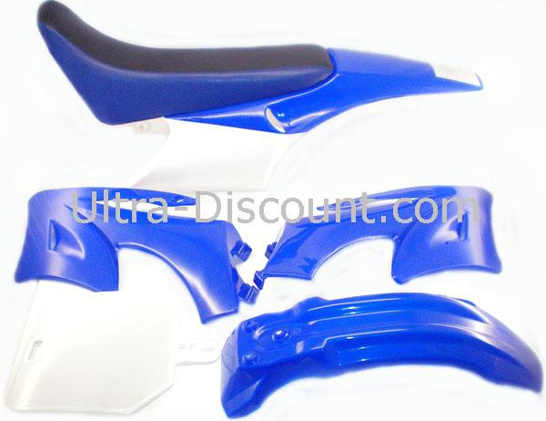carenage dirt bike bleu type agb27 piece dirt bike carenages ultra. Black Bedroom Furniture Sets. Home Design Ideas