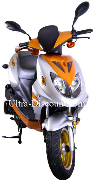 scooters 125cc orange scooter chinois 125cc ultra. Black Bedroom Furniture Sets. Home Design Ideas