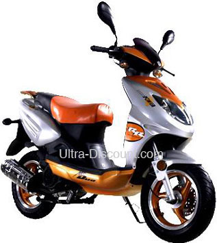 scooter 2 temps 50cc orange scooter chinois 50cc ultra. Black Bedroom Furniture Sets. Home Design Ideas