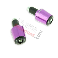 Embout de guidon Tuning violet (type7) pour Pocket Bike
