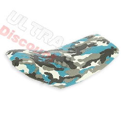 Selle camouflage bleu pour pocket supermotard