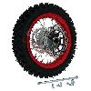 * Roue Arrière Complète 12'' Rouge avec Crampons 12mm pour Dirt Bike AGB27