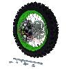 * Roue Arrière Complète 12'' Verte avec Crampons 12mm pour Dirt Bike AGB27