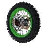 * Roue Arrière Complète 12'' Verte pour Dirt Bike AGB29