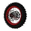 * Roue Arrière Complète 12'' Rouge pour Dirt Bike AGB29