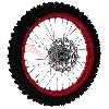 * Roue Avant Complète 17'' Rouge pour Dirt Bike AGB30