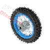 Roue Arrière 12'' Bleue clair avec Crampons 12mm pour Dirt Bike AGB27