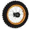 * Roue Arrière Complète 14'' Or pour Dirt Bike AGB30