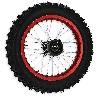 * Roue Arrière Complète 14'' Rouge pour Dirt Bike AGB30