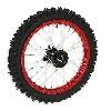 * Roue Avant Complète 14'' Rouge pour Dirt Bike AGB29