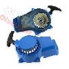 * Lanceur mini moto Pocket en aluminium avec pignon alu - Bleu