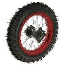 Roue Arrière 12'' Rouge pour Dirt Bike AGB29
