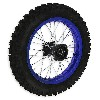 * Roue Arrière Complète 14'' Bleue pour Dirt Bike AGB30
