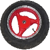 Roue Arrière Scooter Chinois 50 ~ 125cc ( Rouge - type 1 )