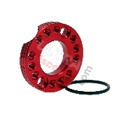Adaptateur de Pipe d'Admission 28mm Rouge pour Dirt bike 125cc à 160cc