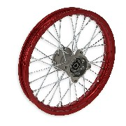 Jante avant 14'' Rouge pour dirt bike AGB30 (Ø12mm, type 4)