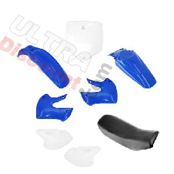 Carenage dirt bike 125cc à 250cc + Selle (Bleu)