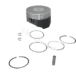 Kit piston dirt bike 107 - 110 cc avec revètement molybdéne (type 1)