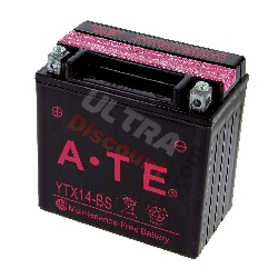 Batterie YTX14-BS pour Quad Shineray 350cc (XY350ST-2E)