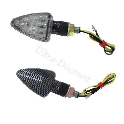 Paire de Clignotants à Leds Quad Shineray 350cc (finition Carbone)