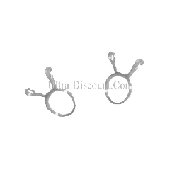 Lot de 2 colliers 8mm pour durite de Quad Bashan 250cc (BS250S-11)